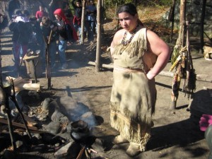 A Wampanoag Woman Making Stew